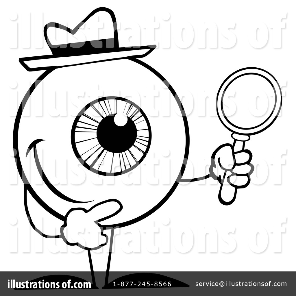 Eyes clipart detective. Illustration by hit toon