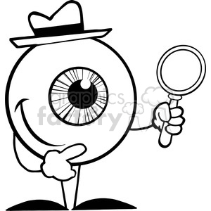 Eyes clipart detective. Royalty free rf copyright