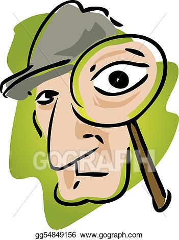 Stock illustration private eye. Eyes clipart detective