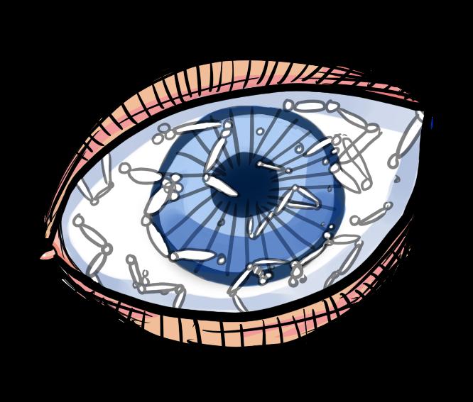 Eye floaters by chisaku. Eyes clipart eyesight