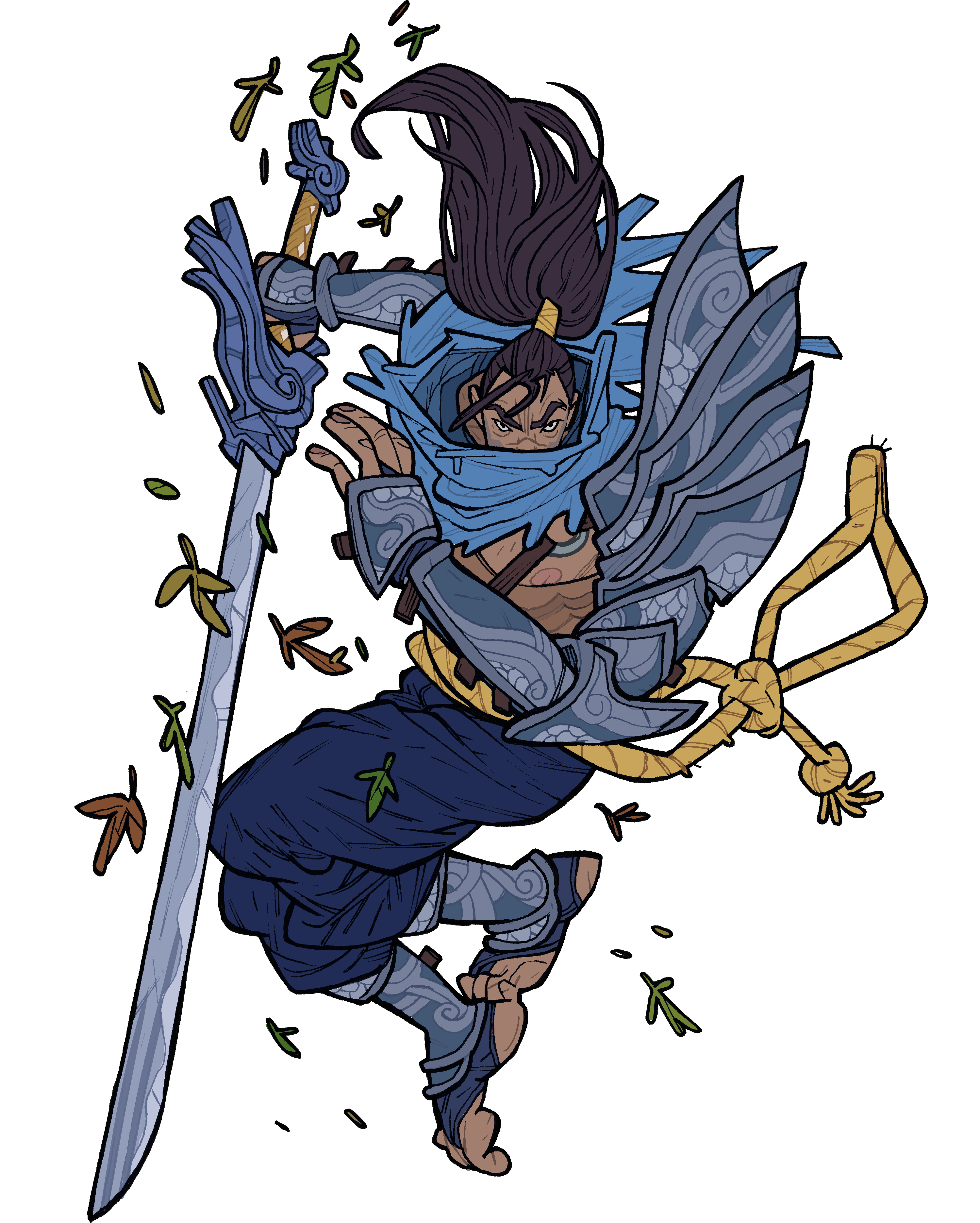 Fear clipart fear face. Yasuo sticker from the
