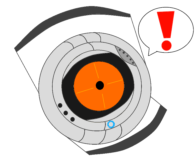 Portal oc core by. Fear clipart irrational