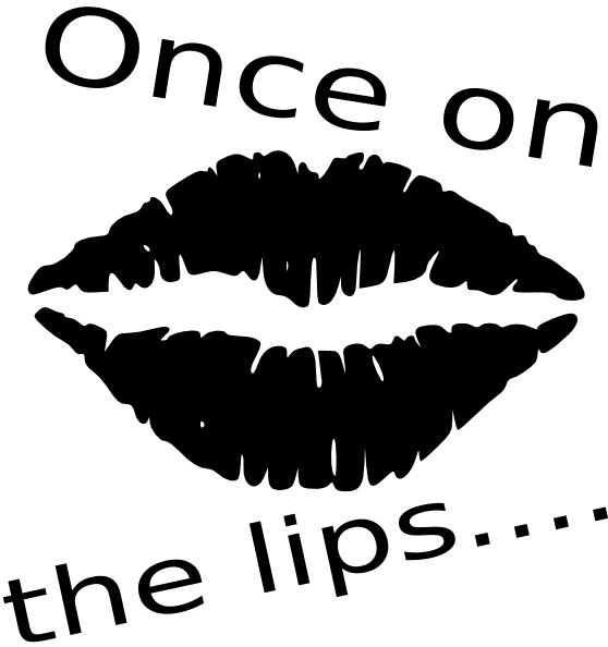 Eyes clipart lip. Once on the lips
