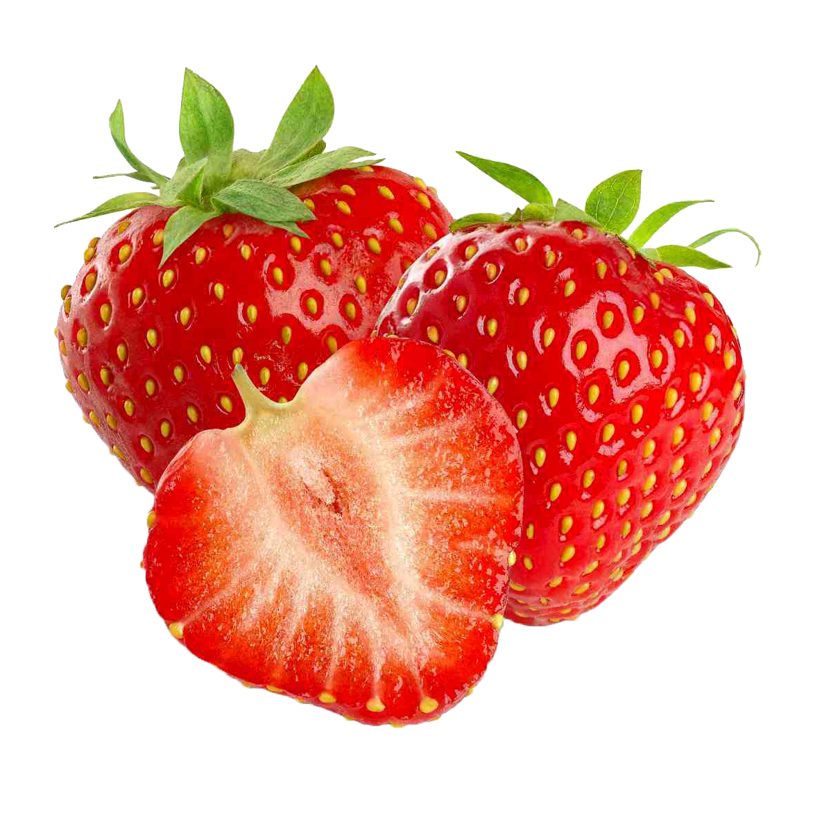 Strawberry one isolated stock. Strawberries clipart clear background