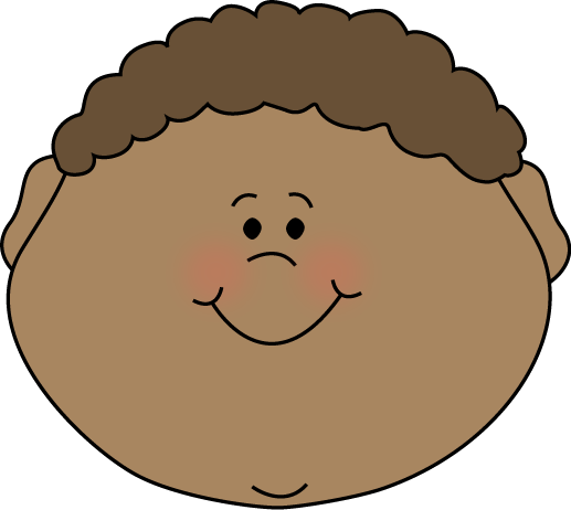 Little boy happy clip. Face clipart