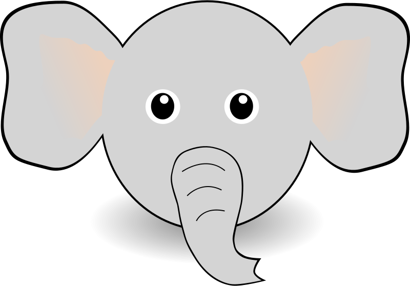 Face clipart baby elephant.  collection of high