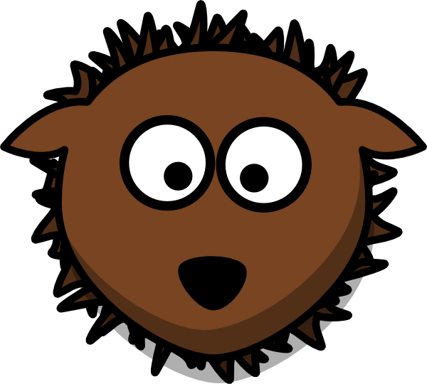hedgehog clipart svg