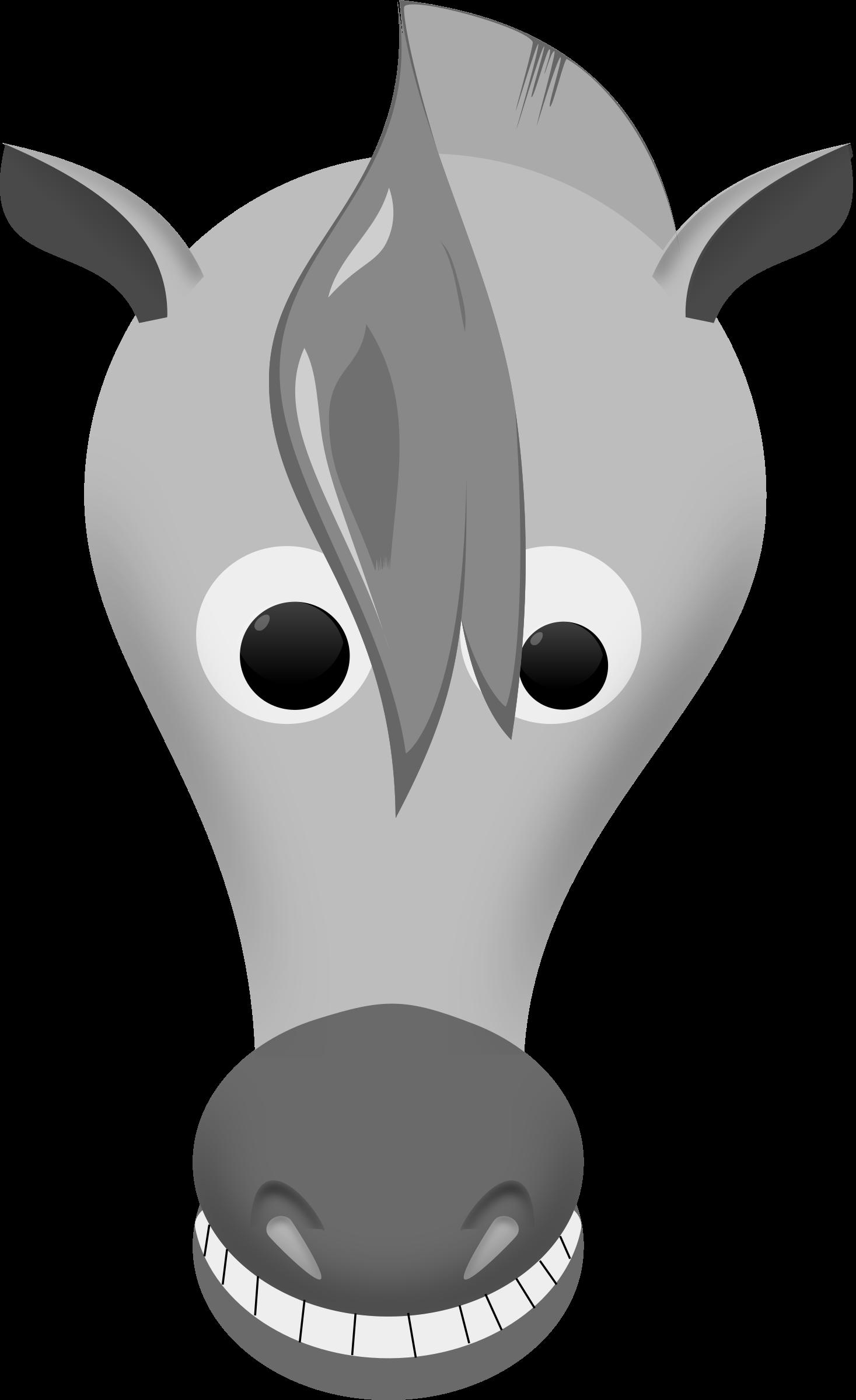 Face clipart black and white. Horse clipartblack com animal