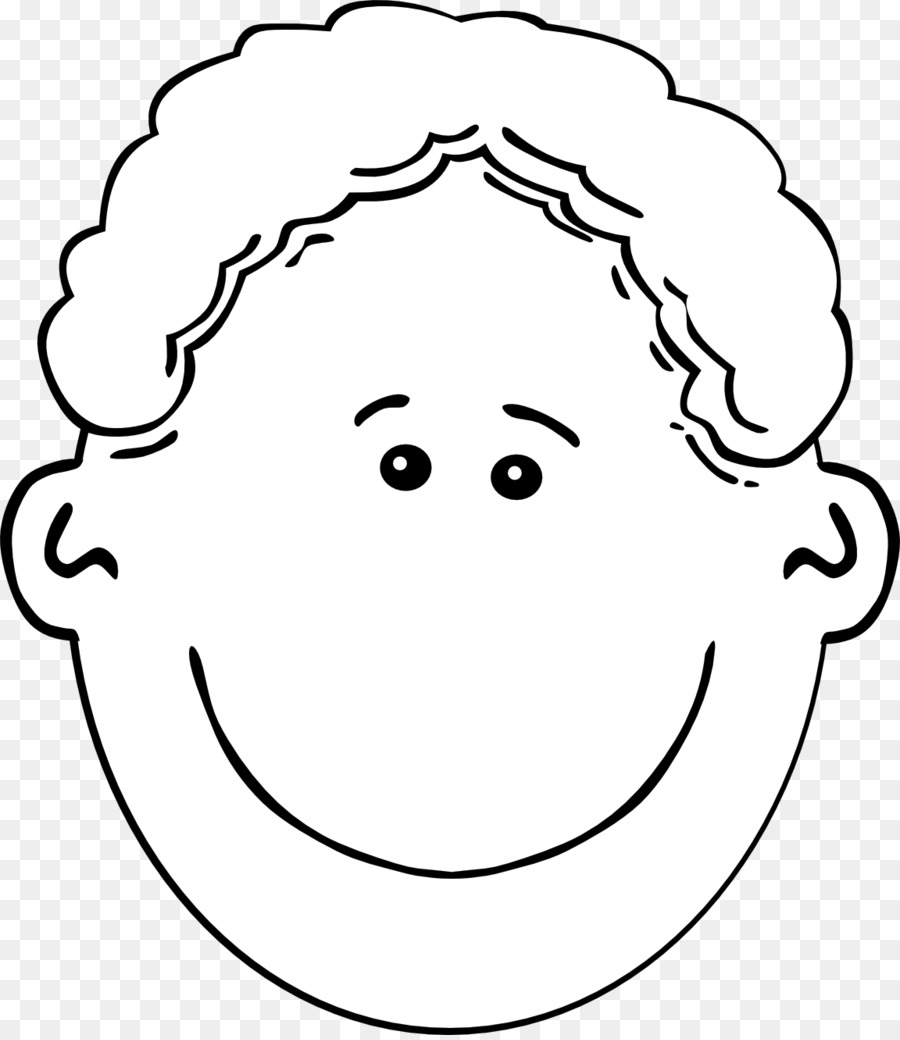 Boy station . Face clipart black and white