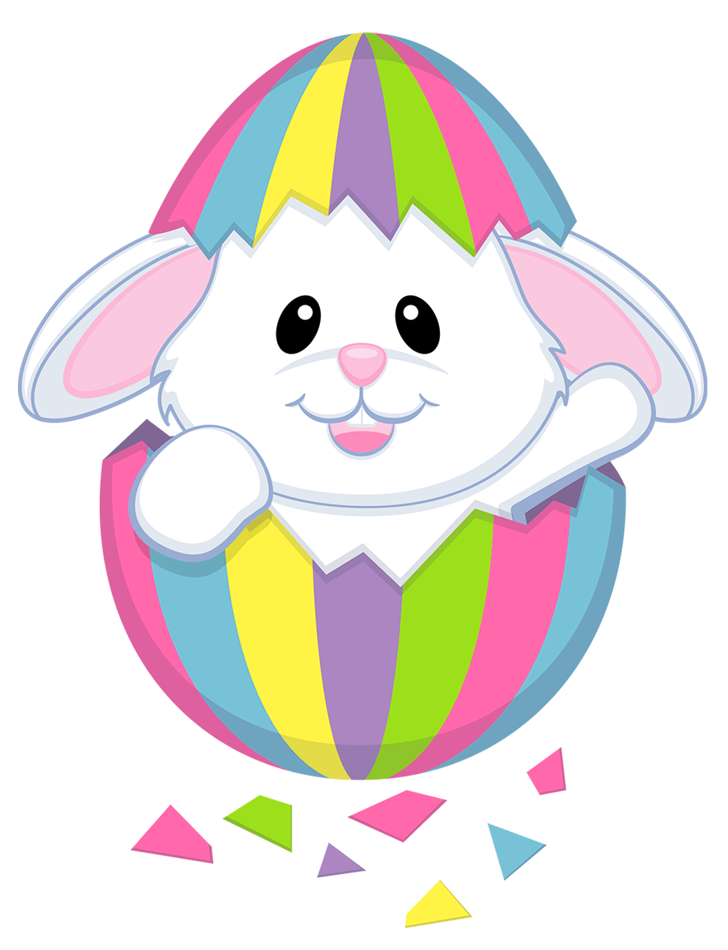 Easter face happy . Faces clipart cute bunny