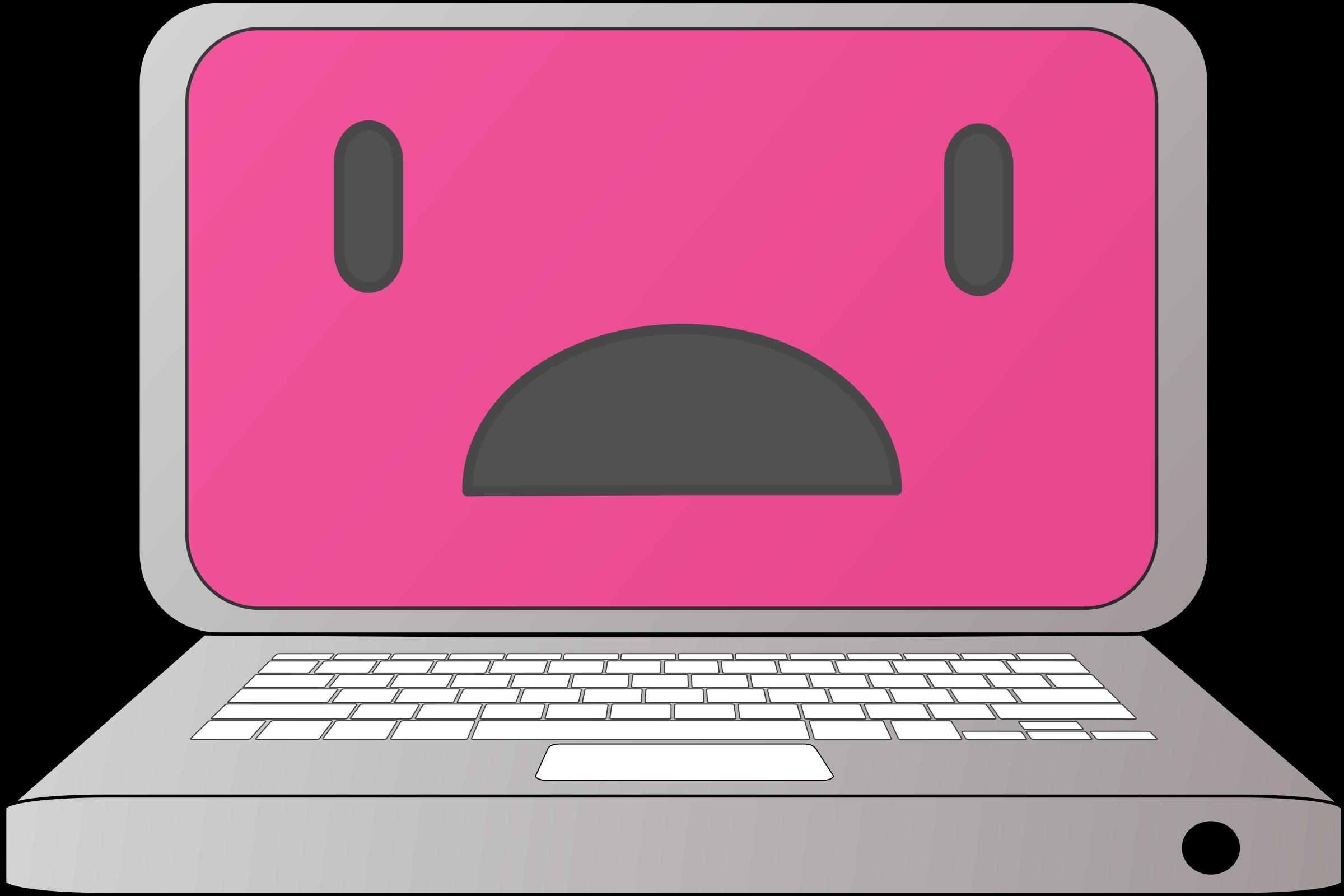 sad clipart laptop