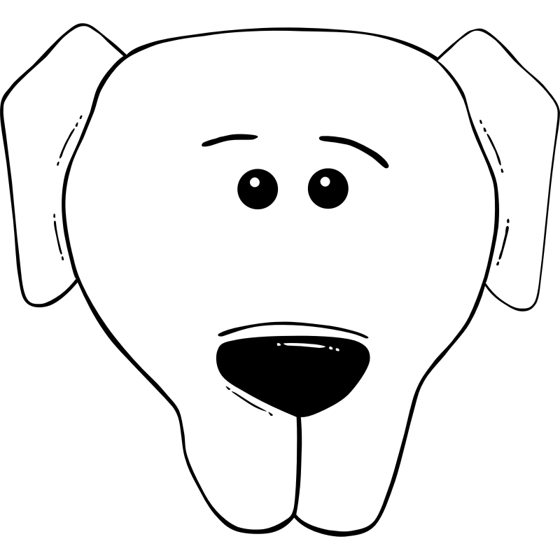 Face clipart dachshund. Free black and white