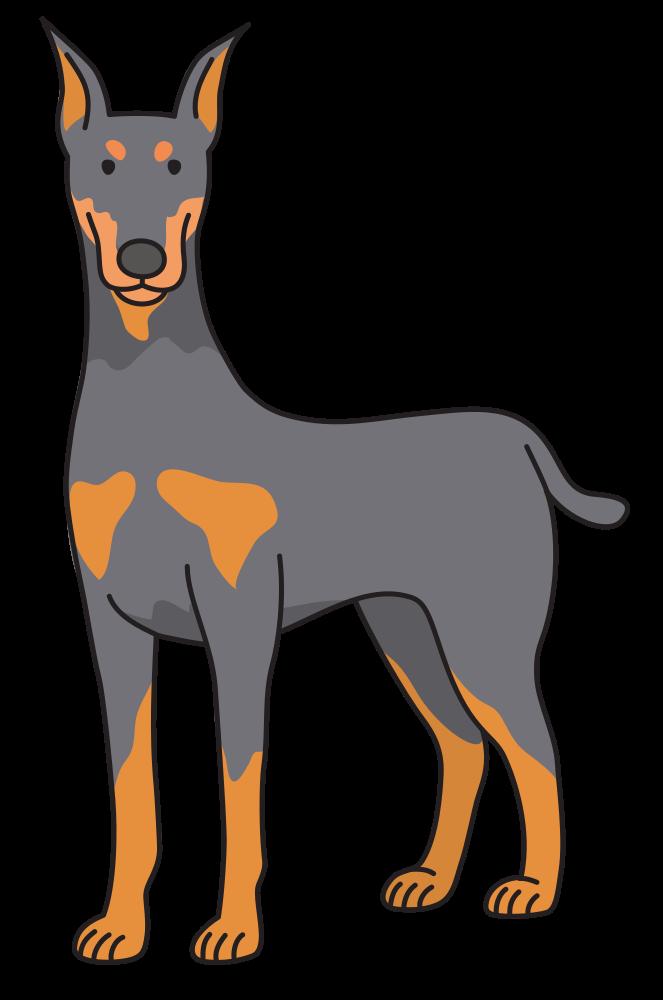 Onlinelabels clip art dog. Face clipart doberman