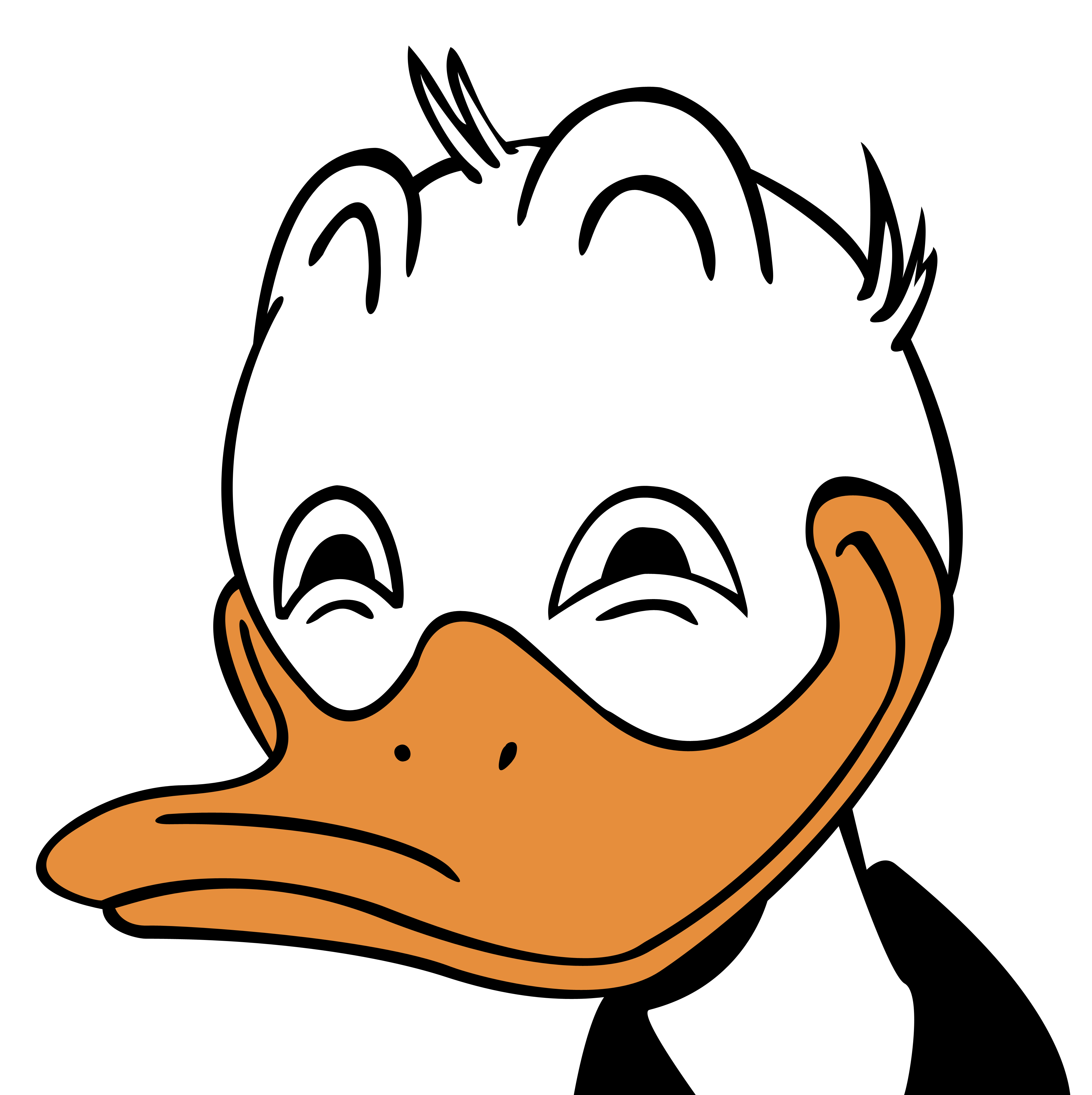 Donald duck rape png. Son clipart face to face