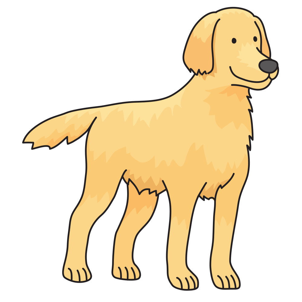 Pet clipart one dog. Onlinelabels clip art golden