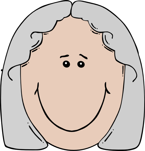 Old woman clip art. Face clipart grandmother