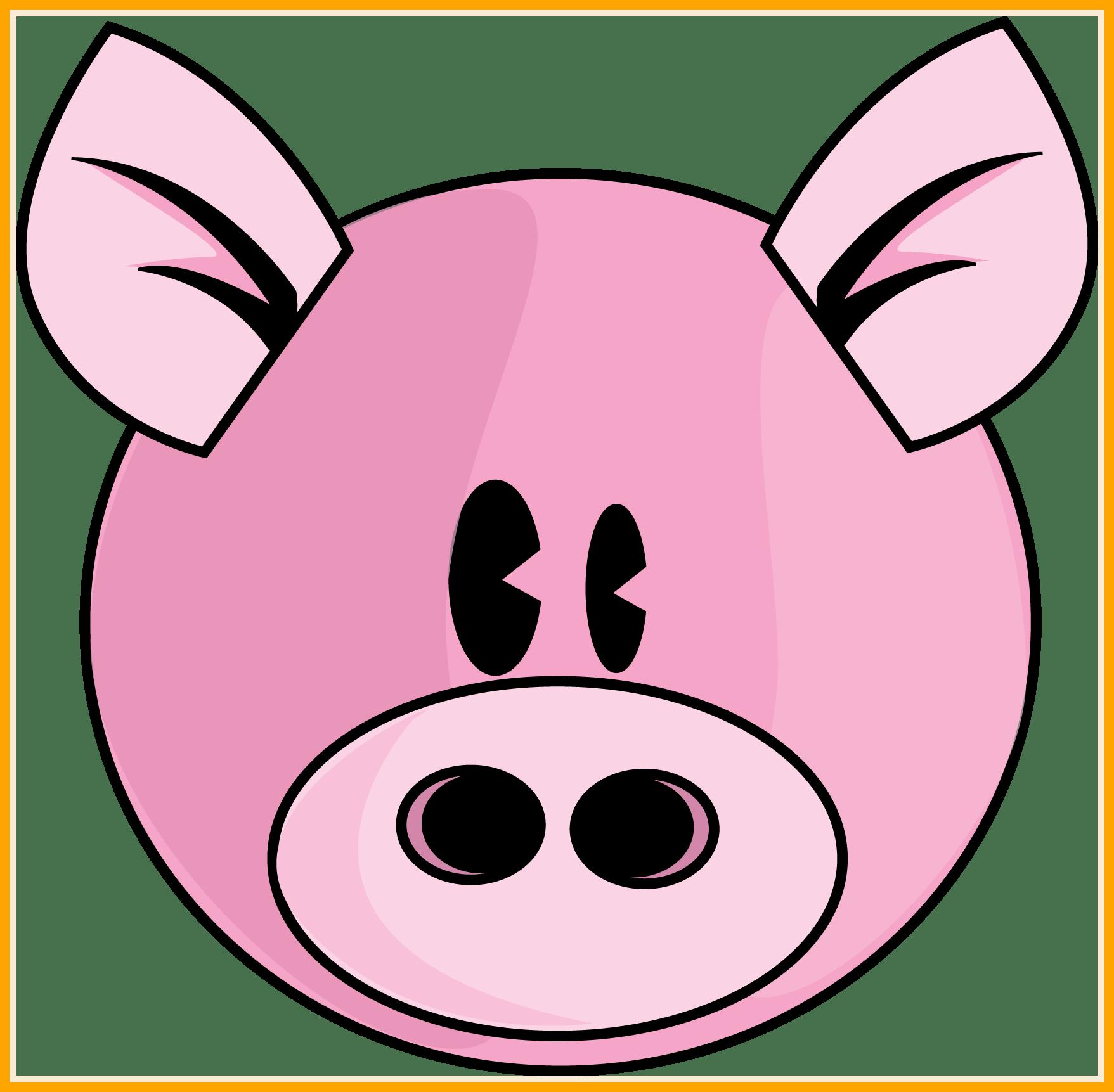 Piggy clip art vector. Face clipart guinea pig