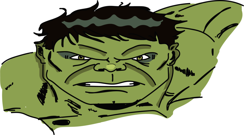 Toonheads the incredible by. Hulk clipart drawing
