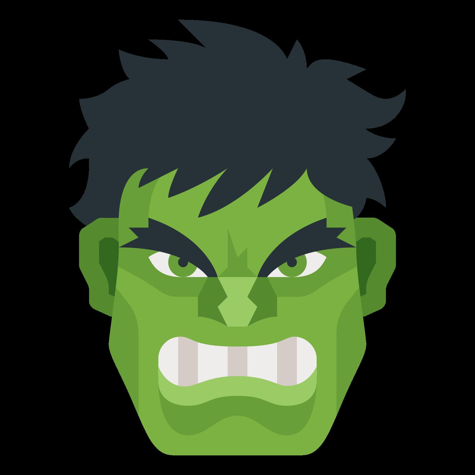 Icon emoji face png. Head clipart hulk
