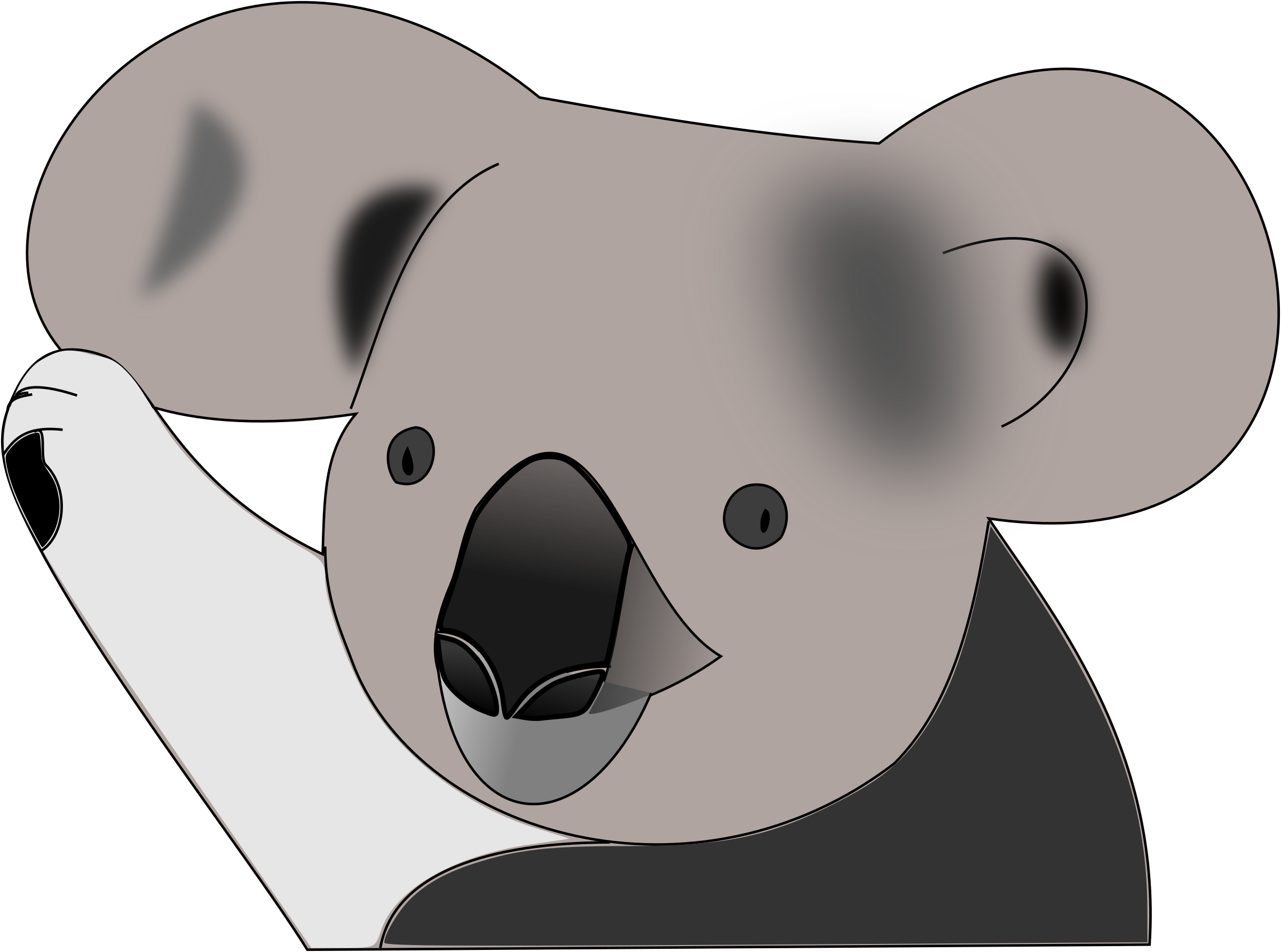 Koala clipart head.