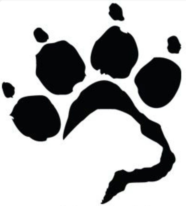 Pawprint clipart silhouette. Labrador face in paw