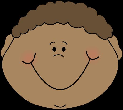 Faces clipart little boy. Happy cartoon face art