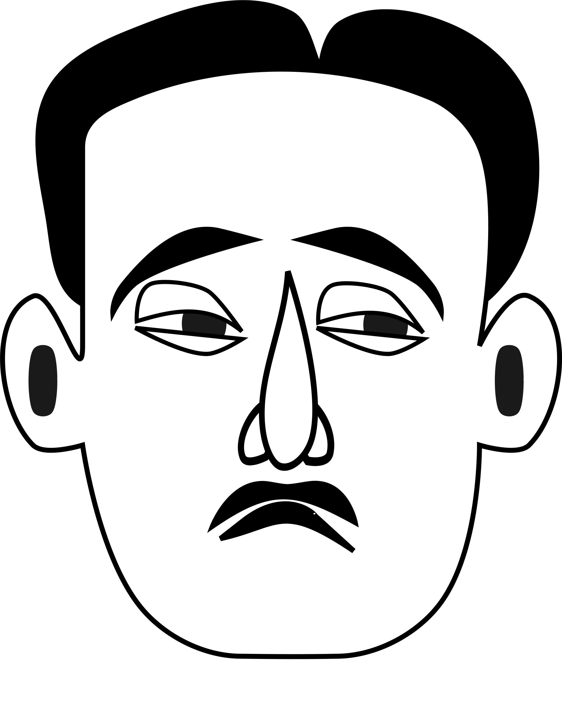 Face clipart man. Best of black and
