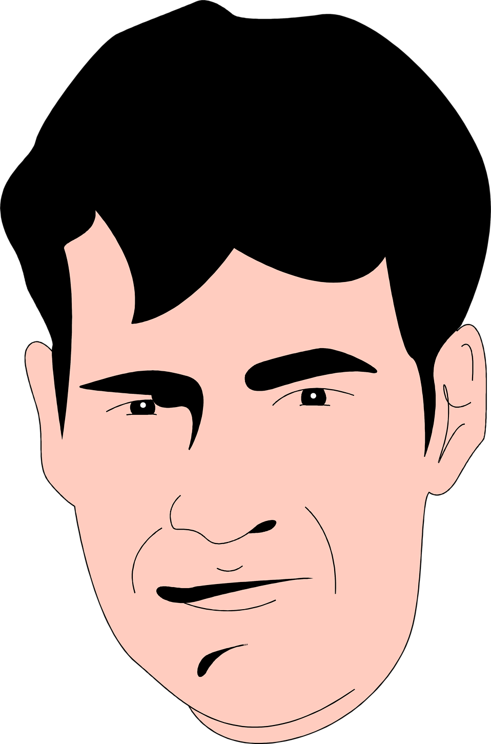 Face clipart man.  collection of high