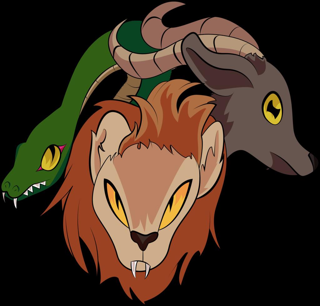 Chimera emblem by elicecil. Face clipart orangutan