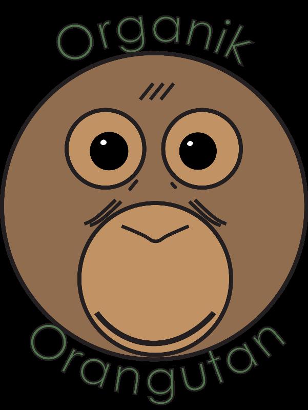 Face clipart orangutan. Organik uk palm oil