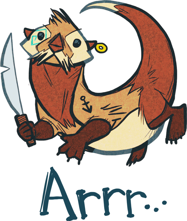 Image switch the pirate. Otter clipart ice age