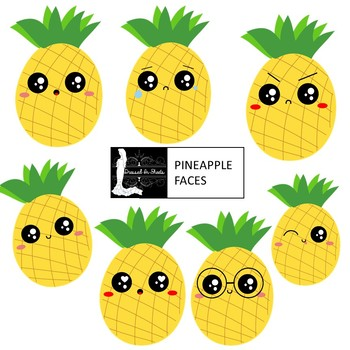. Faces clipart pineapple