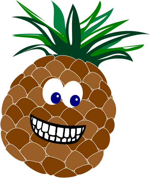 With face clip art. Faces clipart pineapple