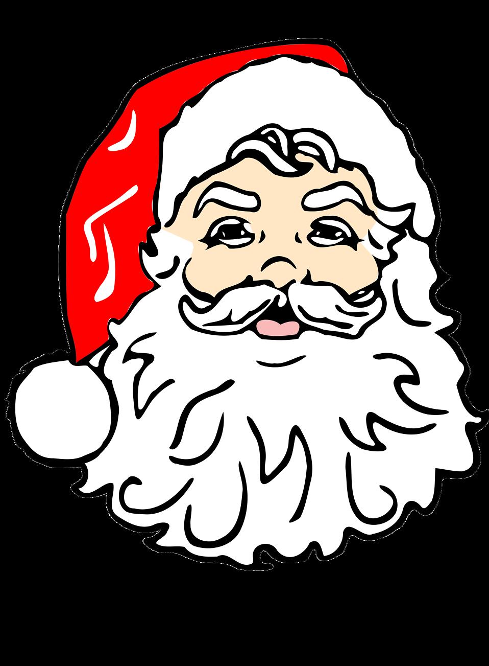 Face clipart santa claus. Free stock photo illustration