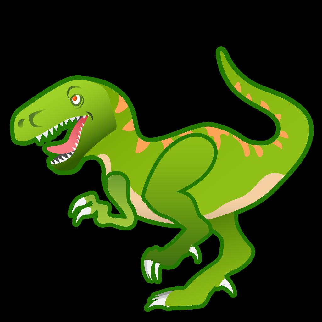 Icon noto emoji animals. Green clipart t rex