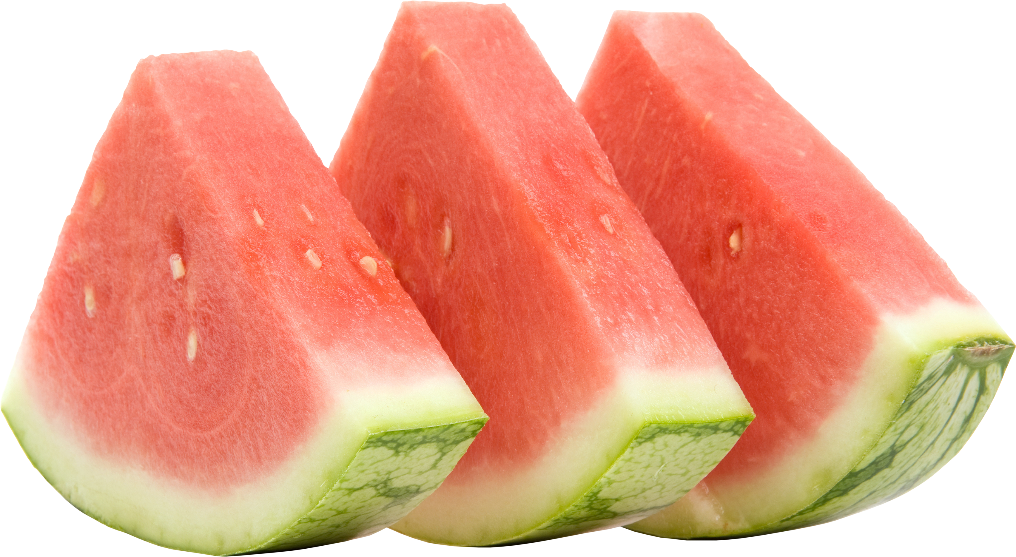 Nine isolated stock photo. Watermelon clipart transparent background