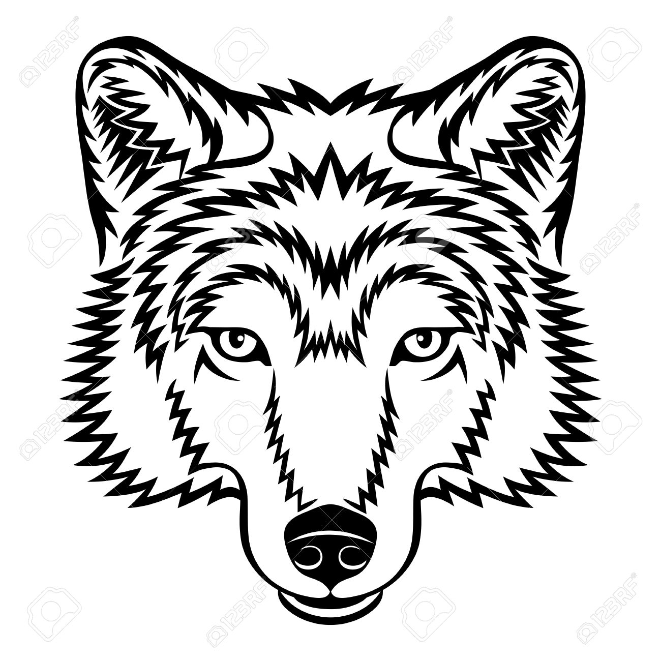 Wolf clipart wolf head. Face free download best