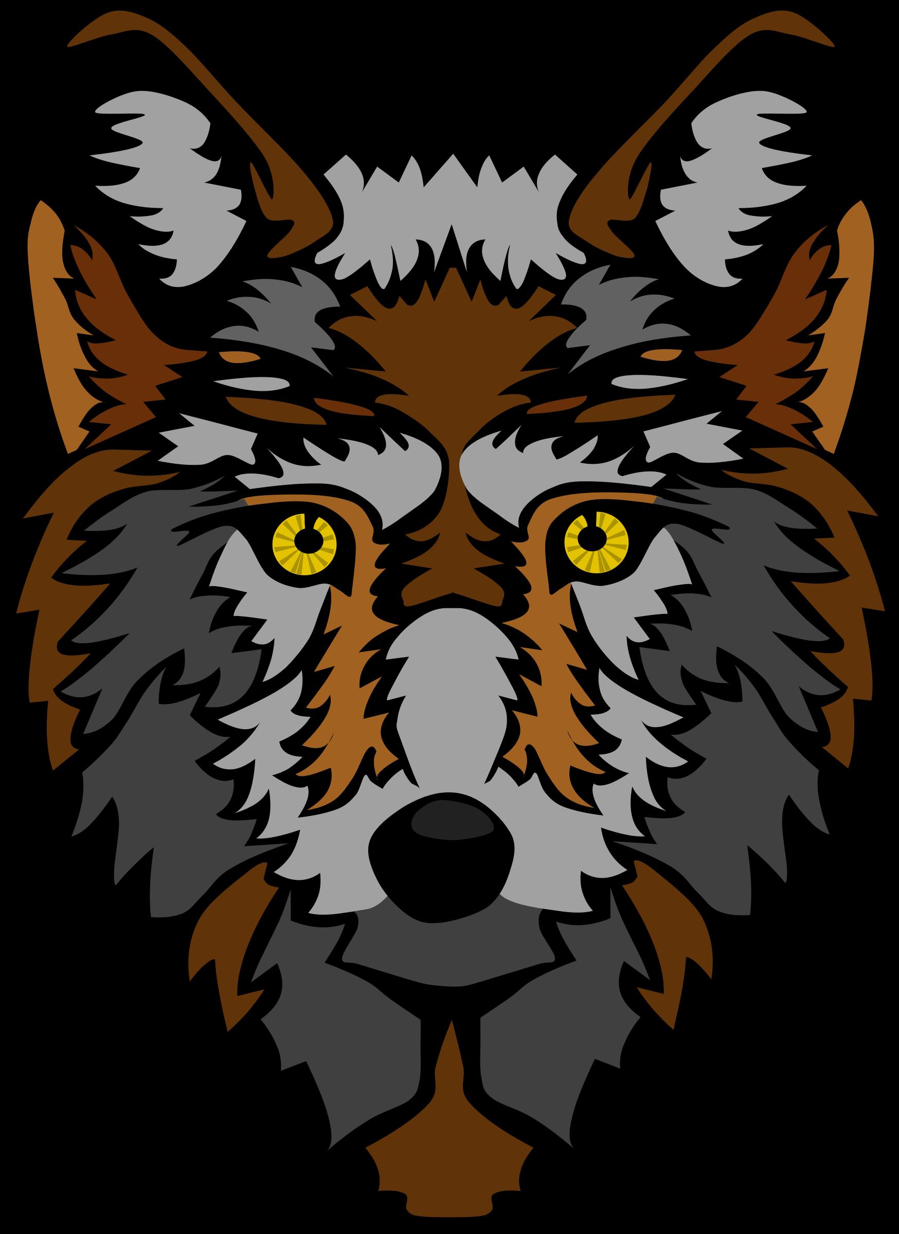 Head stylized big image. Wolf clipart carnivore