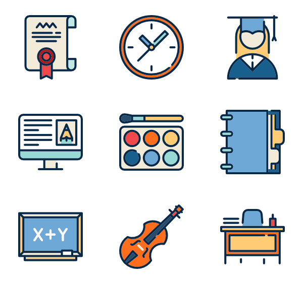 Icons free high school. Building vector png