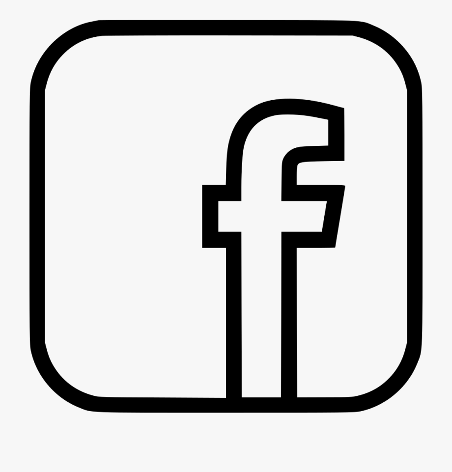 Svg png icon free. Facebook clipart black and white