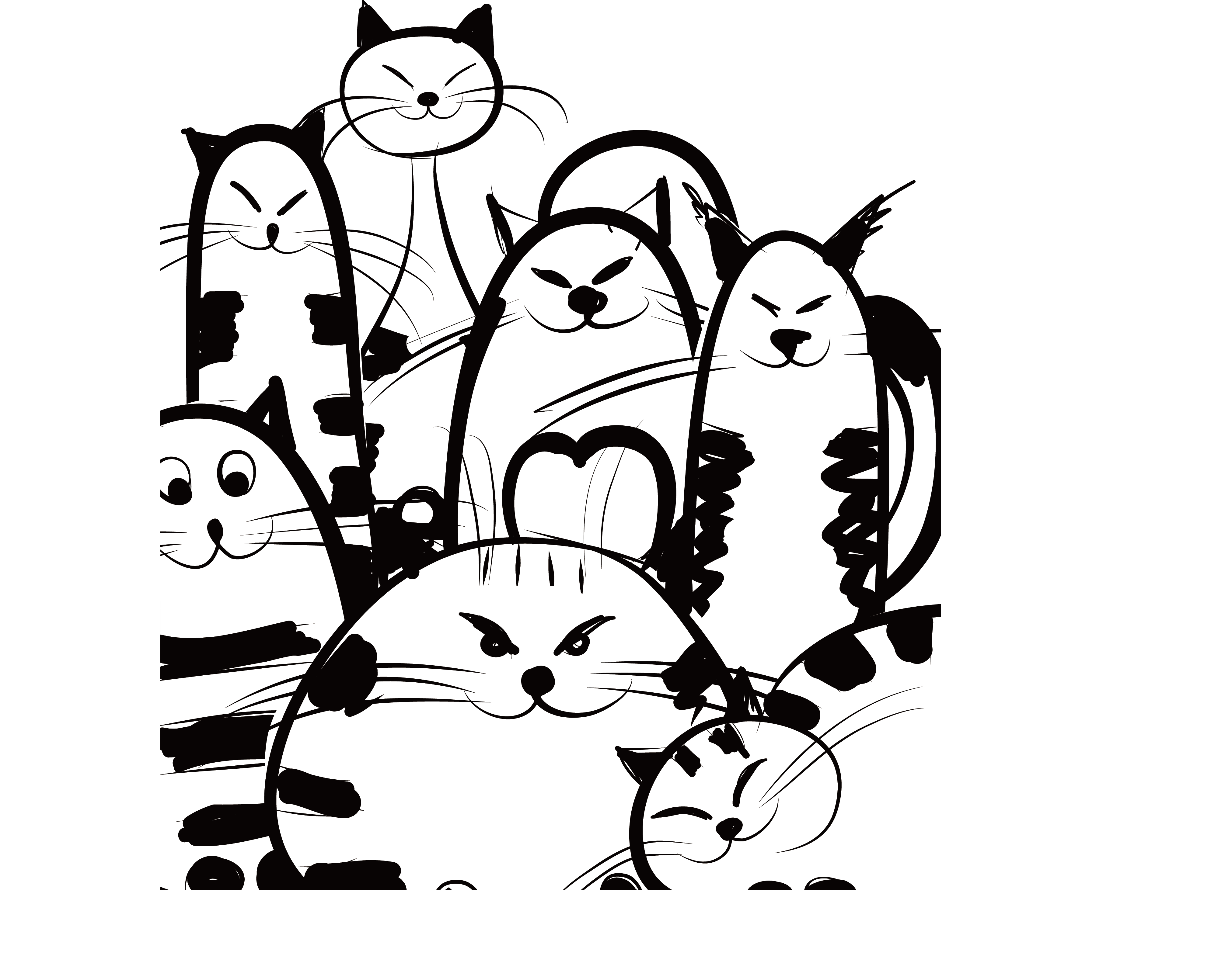 Facebook clipart business card. Cat design corporation creative