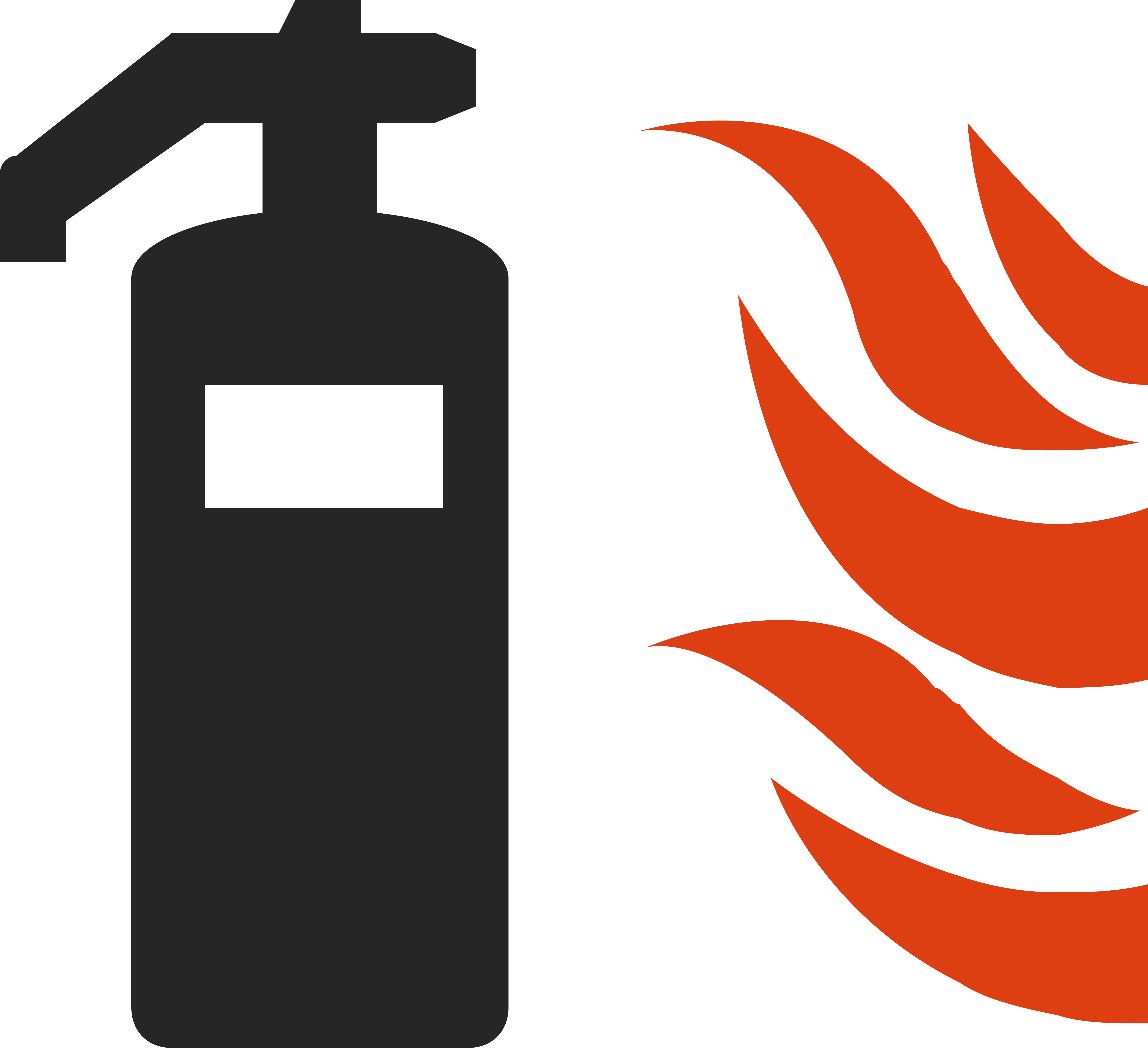 Fire extinguisher symbol logo. Facebook clipart business card