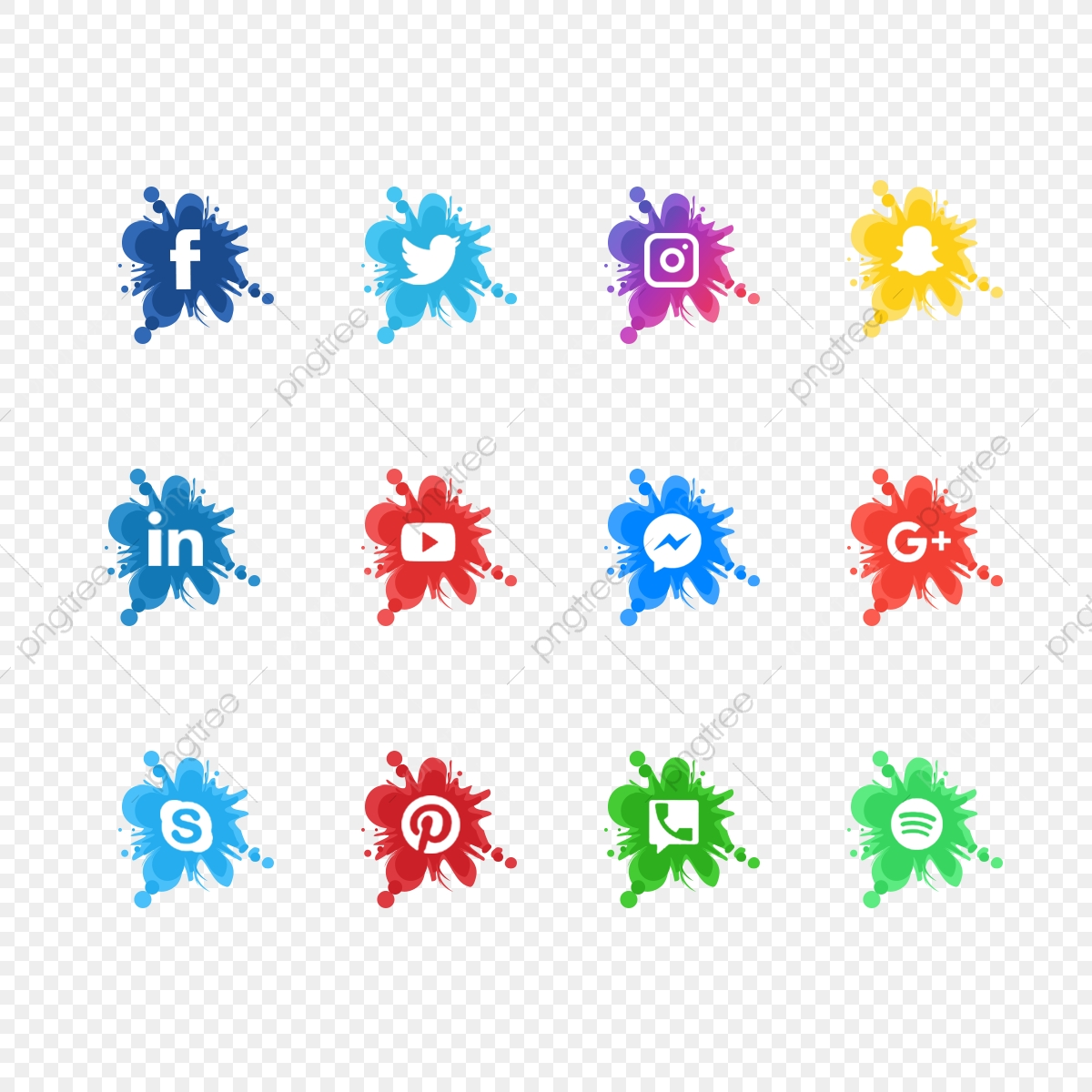 Facebook clipart colorful. Social media icons