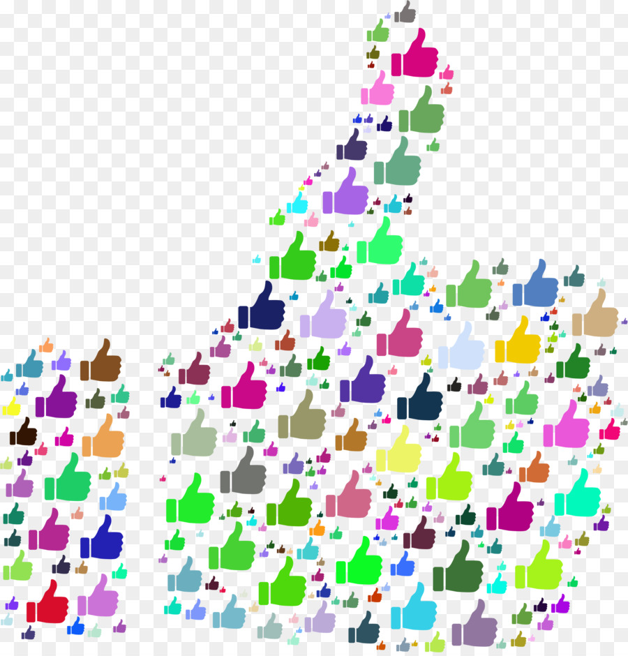 Like button line design. Facebook clipart colorful