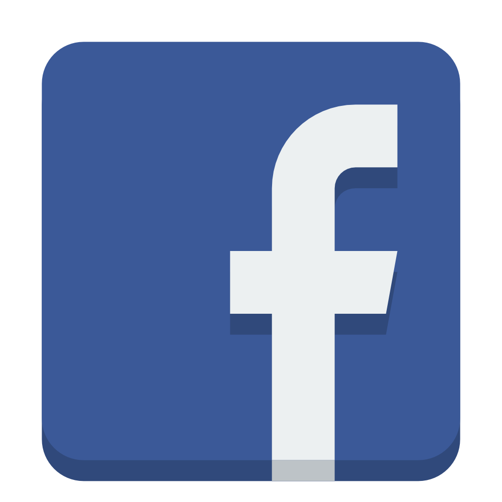 Social small flat iconset. Facebook icon png