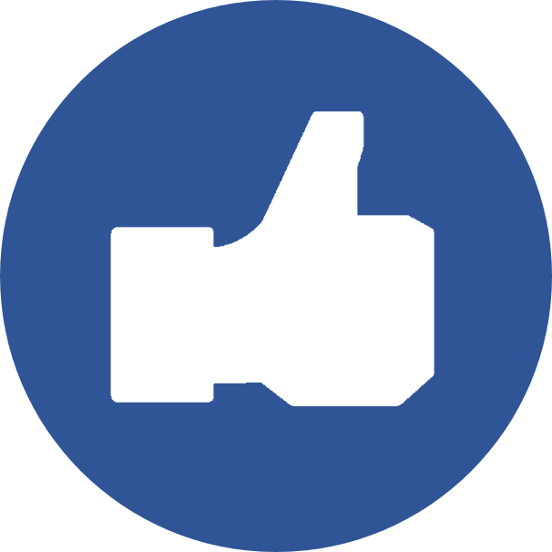 Blue like dislike icon. Facebook clipart glyphicon