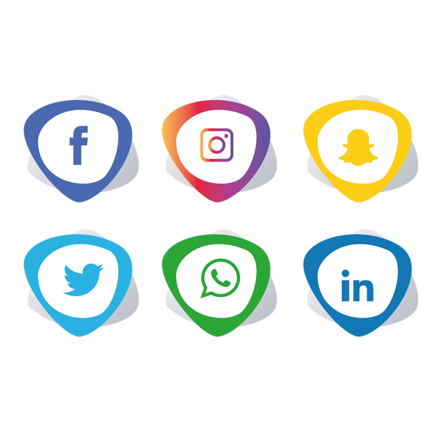 Facebook twitter instagram icons png. Social media set whatsapp