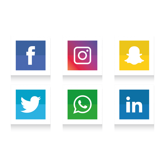 Facebook clipart instagram. Social media icons set