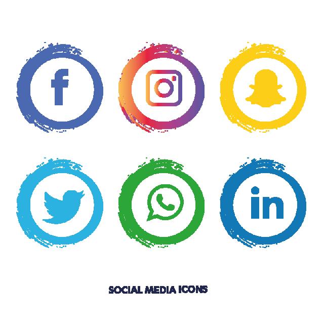 Facebook clipart instagram. Social media icons set
