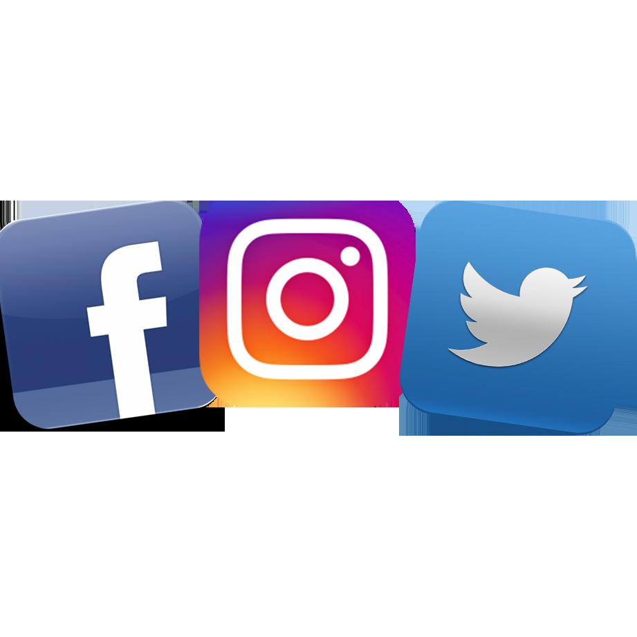 Facebook clipart instagram. Twitter logos d class